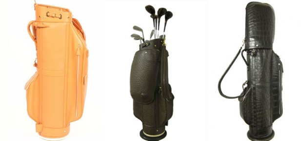 Italian handmade leather golf bags