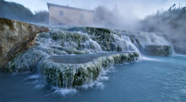 Hot springs of Saturnia, Tuscany