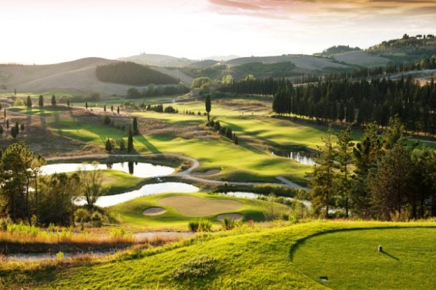 Golf postcard at Castelfalfi, Tuscany
