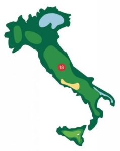 Italian golf words - Italy golf map